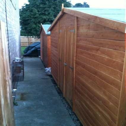 long narrow sheds to fit down side of house