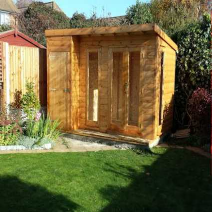 storage shed summer house combo building