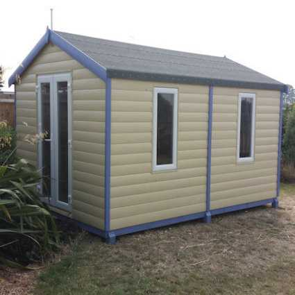 apex garden office with upvc double glazing