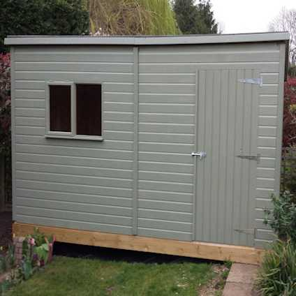 classic cube shed with rubber roof