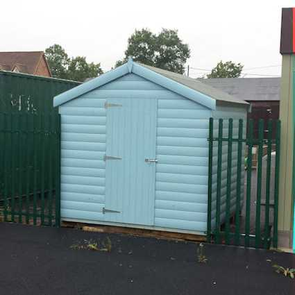 painted robust garden shed
