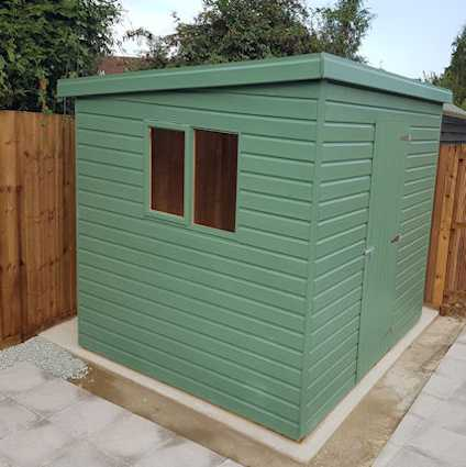 painted robust storage shed