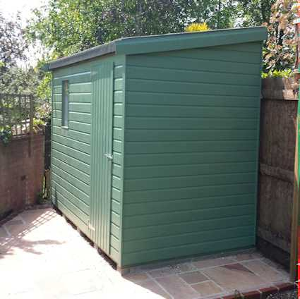 reverse classic pent roofed shed
