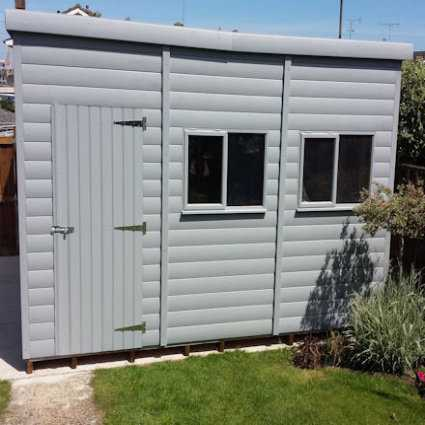 insulated garden shed